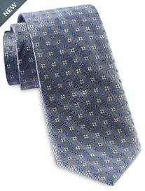 Rochester Designed in Italy Textured Zig Zag Neat Silk Tie