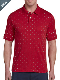 Harbor Bay® Nautical Print Polo Shirt – New & Improved Fit