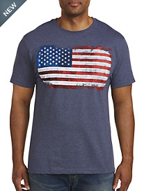 Americana Distressed Flag Graphic Tee