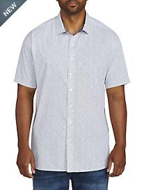Twenty-Eight Degrees Leaf Print Sport Shirt