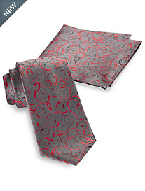 Synrgy Vine Paisley Tie and Pocket Square
