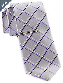 Gold Series Two-Tone Plaid Tie