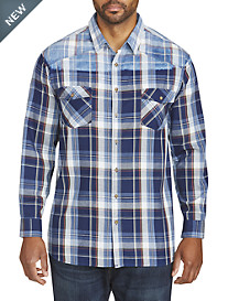 PX Clothing Ombré Plaid Sport Shirt