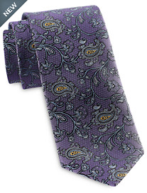 Rochester Designed in Italy Floating Vine Paisley Silk Tie