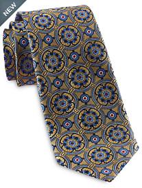 Rochester Designed in Italy Compass Medallion Silk Tie