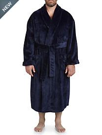 Harbor Bay Shadow Stripe Fleece Robe