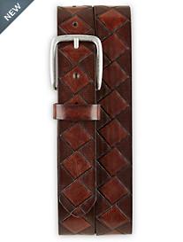 Harbor Bay Basketweave Leather Belt