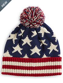 New York Glove Company Flag Pom Hat