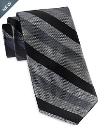 Rochester Designed in Italy Textured Weave Stripe Tie