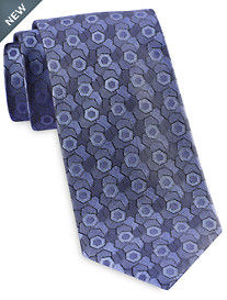 Rochester Designed in Italy Textured Tonal Medallion Tie