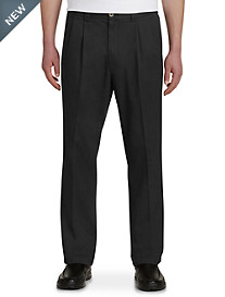 Harbor Bay® Waist-Relaxer® Pleated Twill Pants- New and Improved Fit, Unhemmed