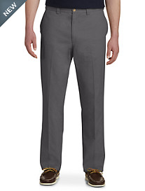 Harbor Bay® Waist-Relaxer® Flat-Front Twill Pants- New and Improved Fit, Unhemmed