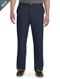 Harbor Bay® Waist-Relaxer® Flat-Front Twill Pants-Unhemmed