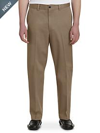 Oak Hill® Waist-Relaxer® Flat-Front Premium Pants-Unhemmed