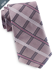 Rochester Designed in Italy Textured Large Stripe Grid Tie