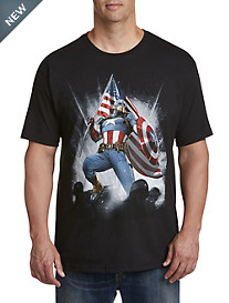 Marvel® Comics Captain America Flag Wave Graphic Tee