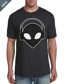 Alien Headphones Graphic Tee