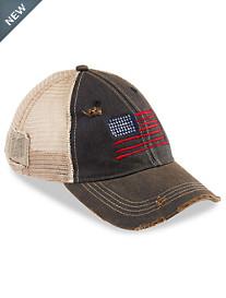 Retro Brand® American Flag Vintage Trucker-Style Hat
