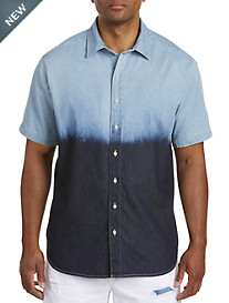 Dip-Dye Denim Sport Shirt