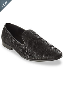 GBX Giorgio Brutini Cooke Snake-Print Smoking Loafers