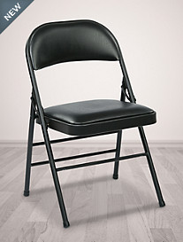 Office Star® Folding Chair with Vinyl Seat/Back (4 Pack)