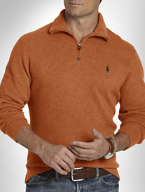 POLO HALF ZIP MOCK SWEATER