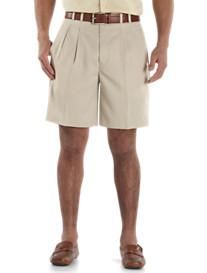 Cutter & Buck™ Pleated Gabardine Microfiber Shorts