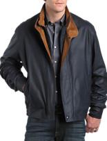 Remy Leather Bomber Jacket