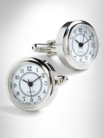 Link Up Round Watch Cuff Links