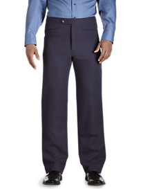 Sansabelt® Flat-Front Polyester Pants