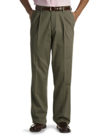 No Wrinkle Pleated Twill Pants