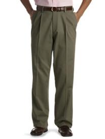 No Wrinkle Pleated Twill Pants