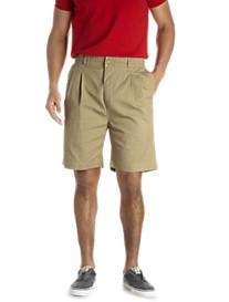 Creekwood® Elastic-Waist Twill Shorts - XtraBig Sizes