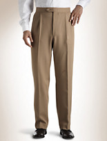 Sansabelt® Pleated Polyester Pants