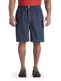 Harbor Bay® Elastic-Waist Denim Shorts