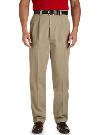 Harbor Bay® Waist-Relaxer® Twill Pleated Pants