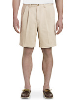 Harbor Bay® Waist-Relaxer® Pleated Twill Shorts