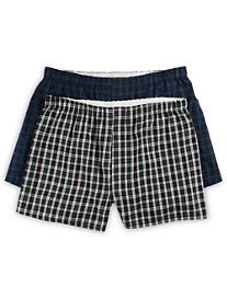 Harbor Bay® 2-pk Plaid Woven Boxers