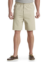 Harbor Bay® Elastic-Waist Twill Shorts