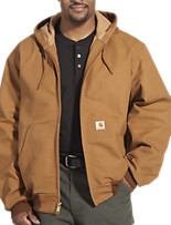 Carhartt® Hooded Thermal-Lined Duck Active Jacket