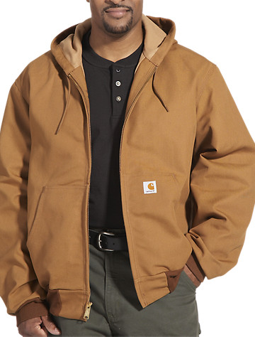 Big & Tall Carhartt® Hooded Thermal-Lined Duck Active Jacket