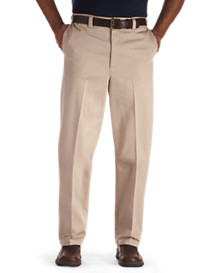 Oak Hill® Dual-Action Premium Twill Flat-Front Pants