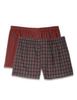 Harbor Bay® 2-pk Red Plaid Boxers