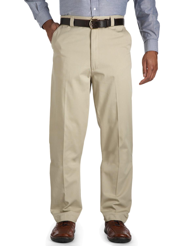 Canyon Ridge Waist-Relaxer Flat-Front Twill Pants | Tuggl