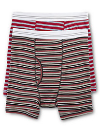 Harbor Bay® 2-pk Stripe Boxer Briefs