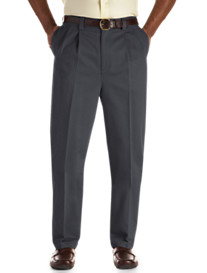 Oak Hill® Waist-Relaxer® Premium Pleated Twill Pants