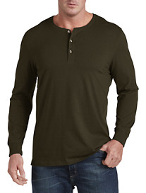 Harbor Bay® Long-Sleeve Wicking Henley