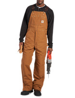 Carhartt® Quilt-Lined, Zip-To-Thigh Duck Bib Overalls