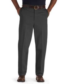 Oak Hill® Waist-Relaxer® Premium Flat-Front Twill Pants