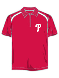 MLB Colorblock Zip Polo